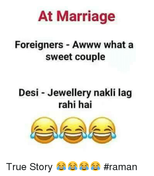 At Marriage Foreigners Awww What a Sweet Couple Desi Jewellery Nakli