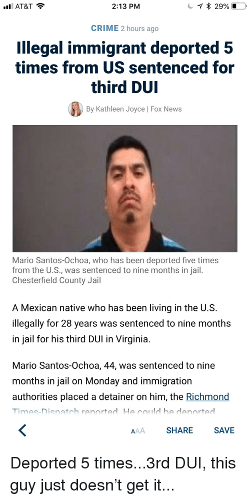 At&T 213 PM CRIME 2 Hours Ago Llegal Immigrant Deported 5