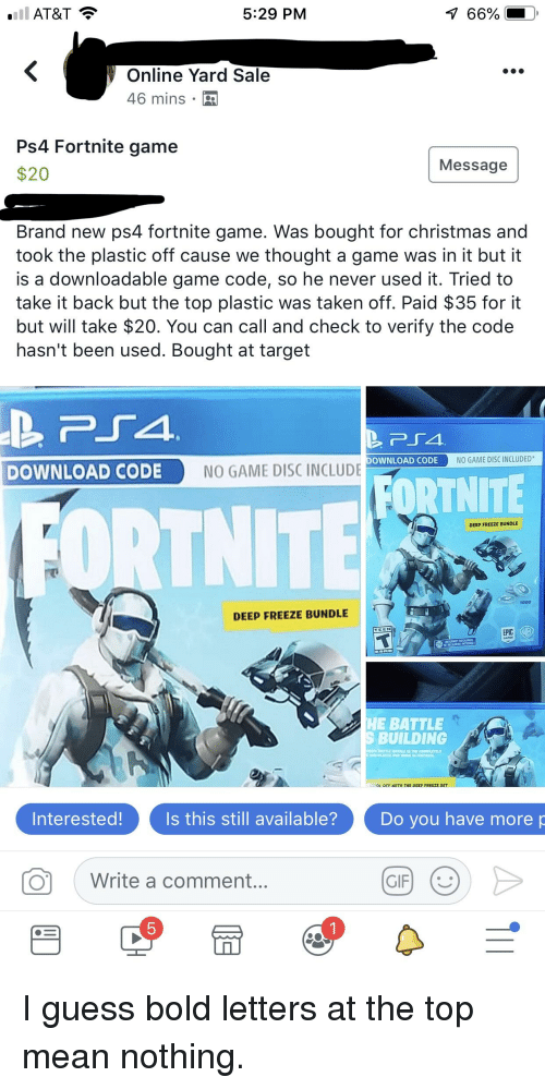 At T 529 Pm 66 0 Online Yard Sale 46 Mins Ps4 Fortnite Game