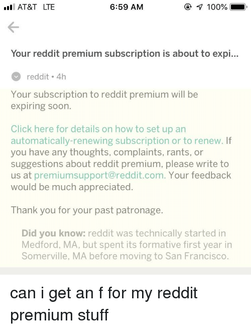 At&T LTE 659 AM 100% Your Reddit Premium Subscription Is