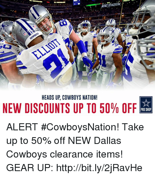 half off d1c2b 7f861 At&T STADIUM HEADS UP COWBOYS NATION! NEW DISCOUNTS UP TO 50 ...