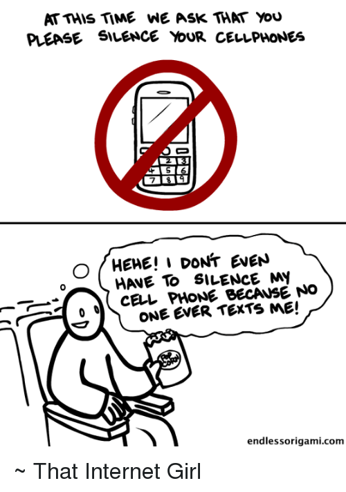 please silence your cell phones