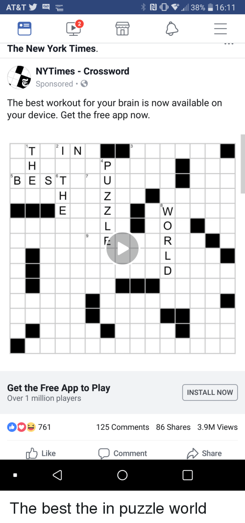 At Ty The New York Times Nytimes Crossword Sponsored The Best