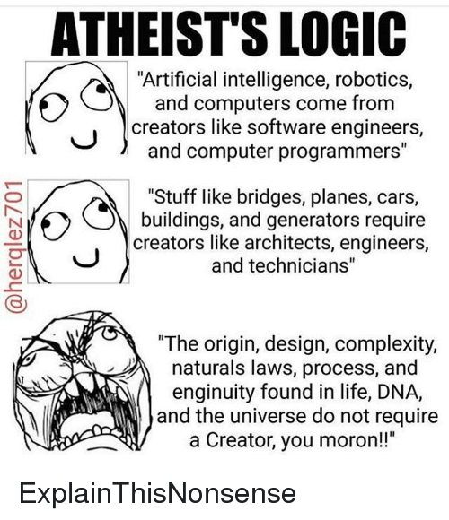 Atheists Logic Artificial Intelligence Robotics And Computers Come