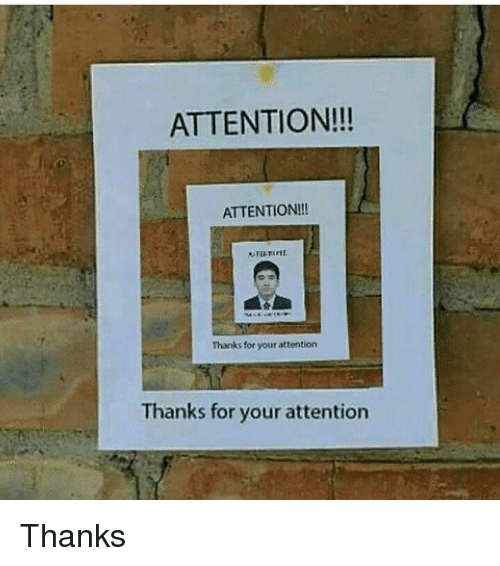 ATTENTION!!! ATTENTION!!! Thanks for Your Attention Thanks for Your ...