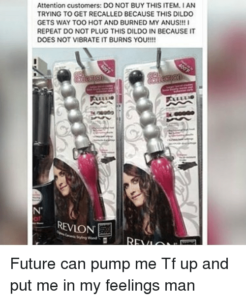 Curling iron dildo