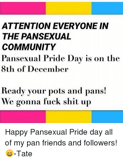 Pamsexual pride day