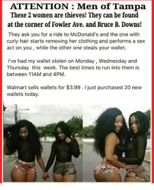 eeeaa14362b ATTENTION Men of Tampa These 2 Women Are Thieves! They Can Be Found ...