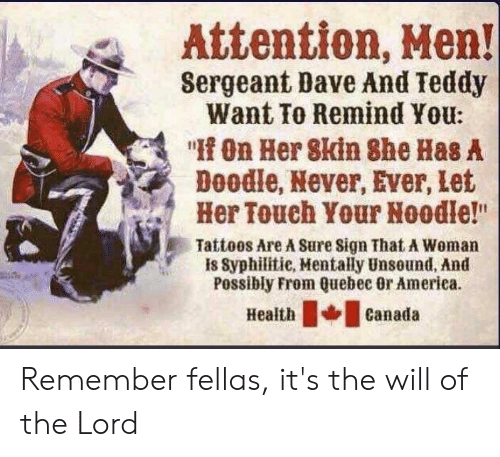 2b1f6ab8f985 America, Tattoos, and Doodle: Attention, Men! Sergeant Dave And Teddy Want