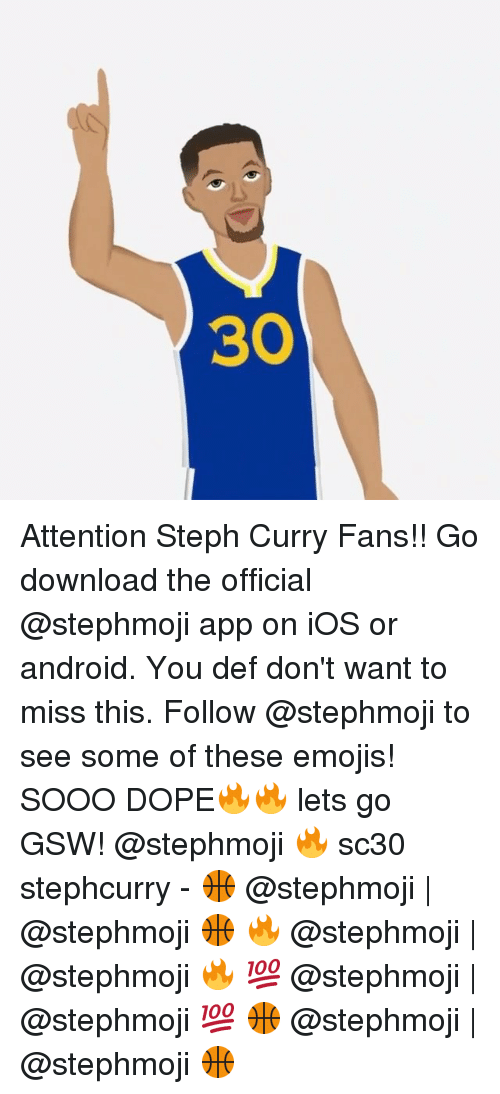 official photos e2840 cec8b Android, Dope, and Emoji  Attention Steph Curry Fans!! Go download the