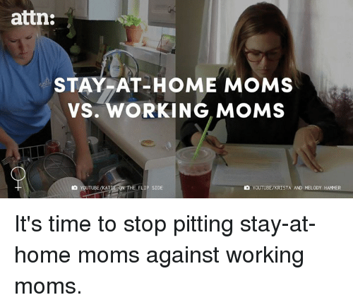 stay at home parents versus working parents essay I am writing an essay on working moms versus stay at home moms i am not taking a side as i feel both have benefits and disadvantages which vary depending on the situation of the parents involved.