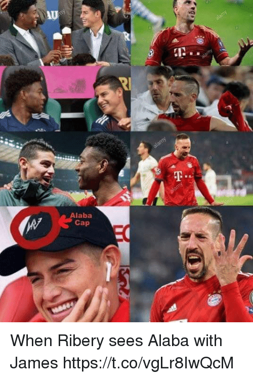 Memes, Alaba, and 🤖: Au  IN.  Alaba  Cap When Ribery sees Alaba with James https://t.co/vgLr8IwQcM