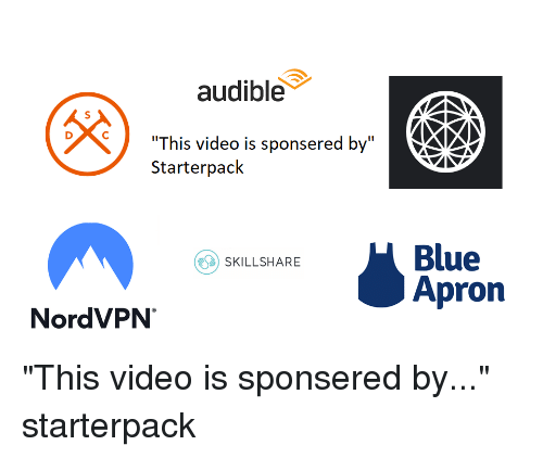 Audible This Video Is Sponsered by Starterpack Blue Apron