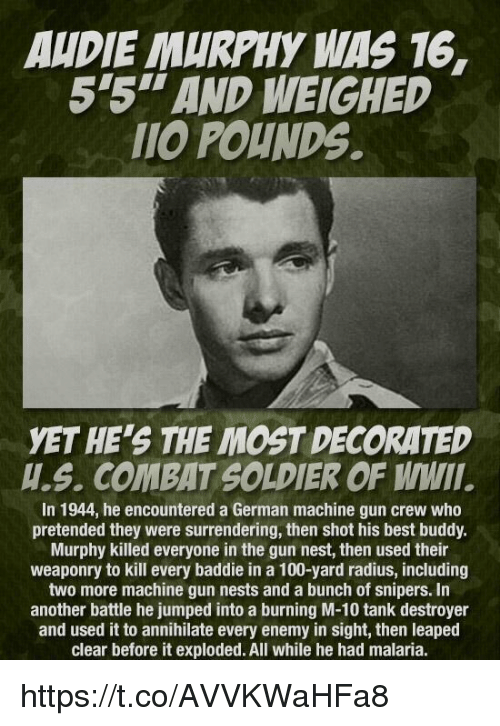AUDIE MURPHY WAS AND WEIGHED POUNDS YET HES THE MOST - Audie's grocery store