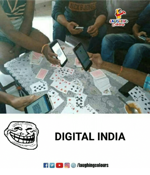 India, Indianpeoplefacebook, and Digital: AUGHING  DIGITAL INDIA