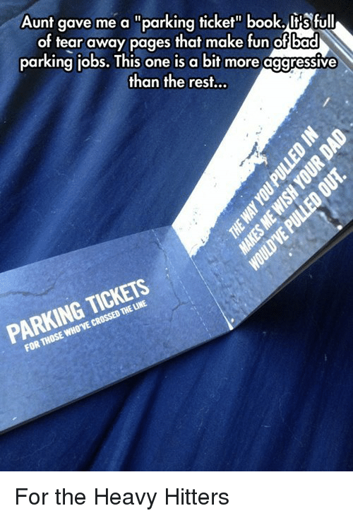bad irs and book aunt gave me a parking ticket book
