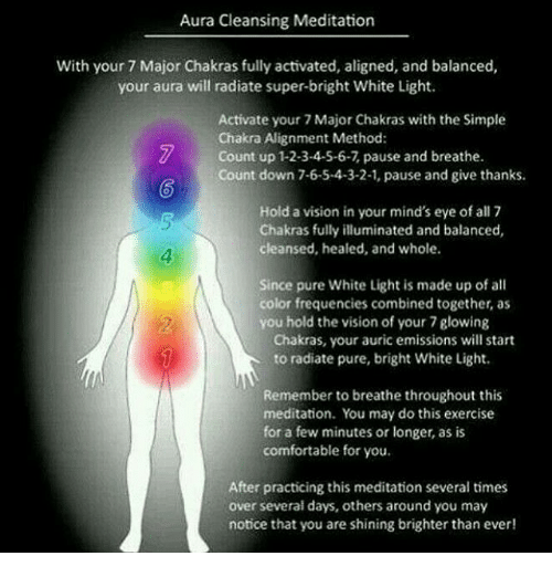 Aura Cleansing Meditation With Your 7 Major Chakras Fully