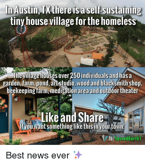 Marvelous Homeless, Memes, And Meditation: Austin There Is A Self Sustaining Tiny  House Village