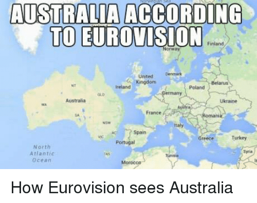 Australia Denmark And Germany According To Eurovision Finland United Kingdom Ireland
