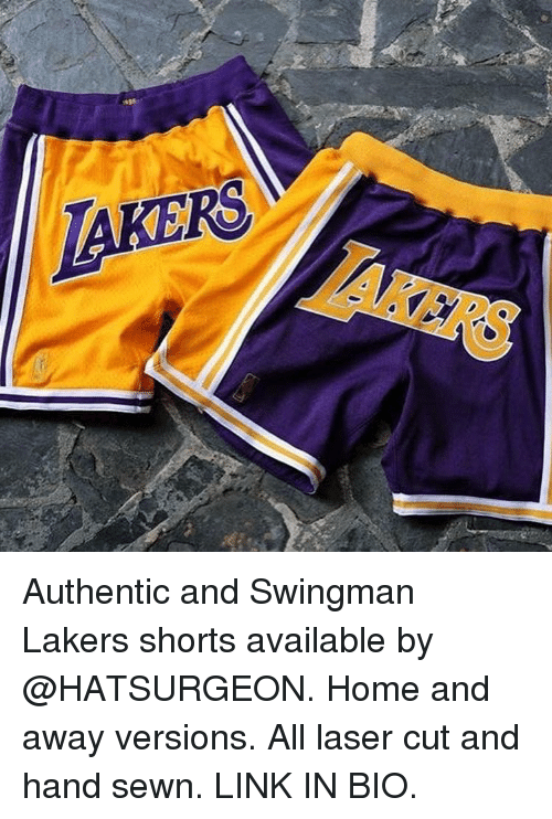 Authentic and Swingman Lakers Shorts Available by Home and Away ... 5b29c64a1