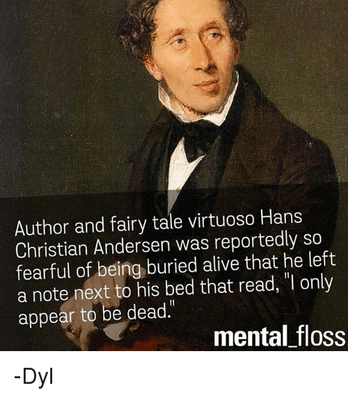 Author And Fairy Tale Virtuoso Hans Christian Andersen Was