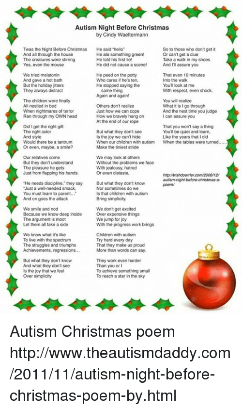 memes shoes and struggle autism night before christmas by cindy waeltermann twas the autism christmas poem