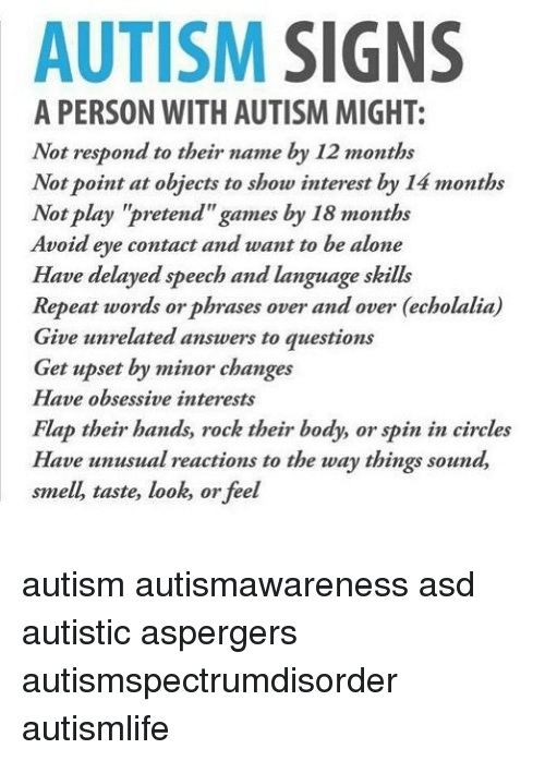 Signs Of Autism By 18 Months Evident In >> Autism Signs A Person With Autism Might Not Respond To Their Name By