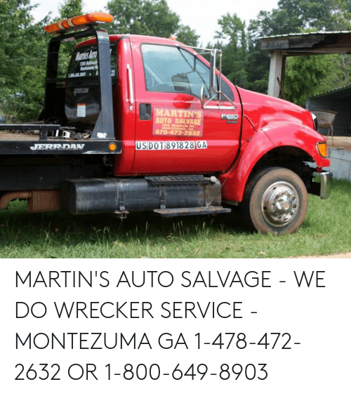 Martins Auto Salvage >> Auto Salvage Martin S Auto Salvage We Do Wrecker Service