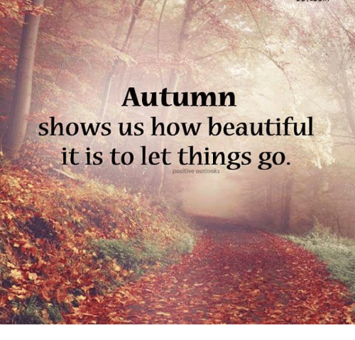 Beautiful, Memes, and 🤖: Autumn shows us how beautiful it is to let things go