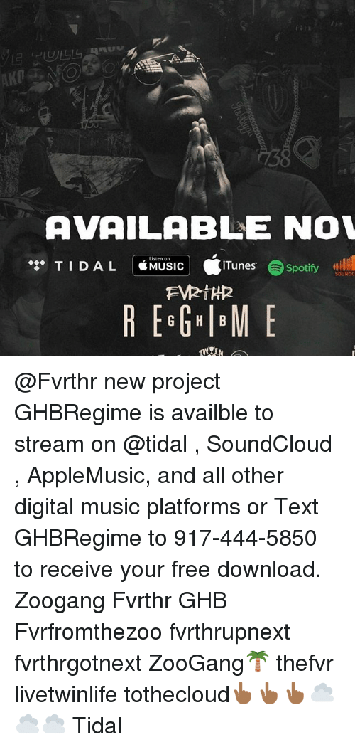 AVAILABLE NOW Listen on TID AL MUSIC iTunes Spotify SOUNDC