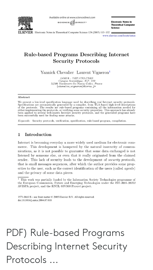 Available Online at Wwwsciencedirectcom Electronic Notes in SCIENCE