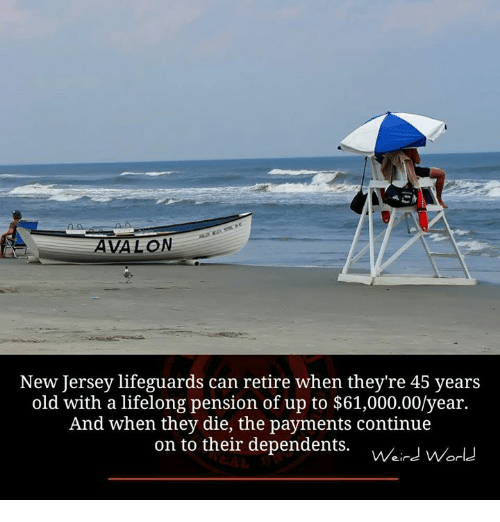 3e8e8c5468e AVALON New Jersey Lifeguards Can Retire When They re 45 Years Old ...