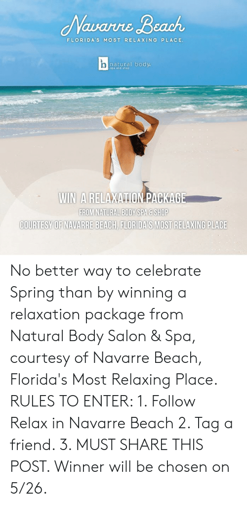 Avare Beach FLORIDA'S MOST RELAXING PLACE Natural Body Spa