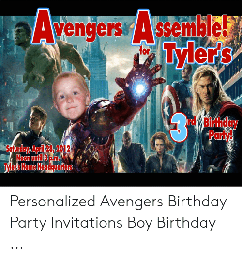 Avengers Assemble Tylers For Rdy Binhday Pany Safurday April 28 2012