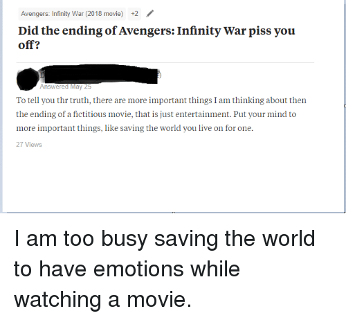 Avengers Infinity War 2018 Movie +2 Did the Ending of Avengers