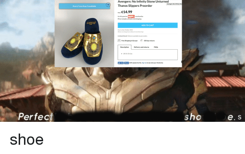 Avengers No Infinity Stone Unturned Thanos Slippers Preorder