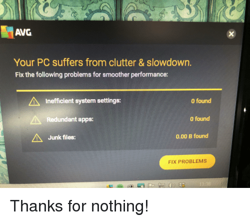 does avg slow down pc