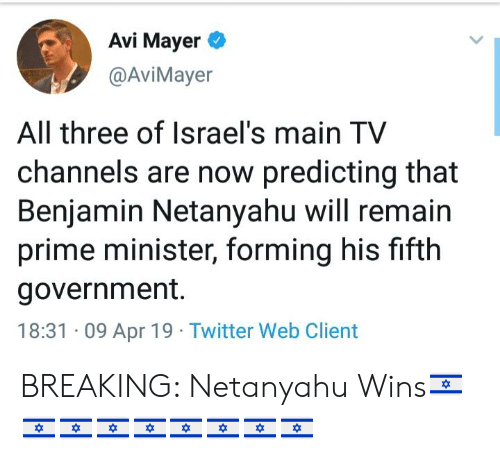 Avi Mayer All Three of Israel's Main TV Channels Are Now