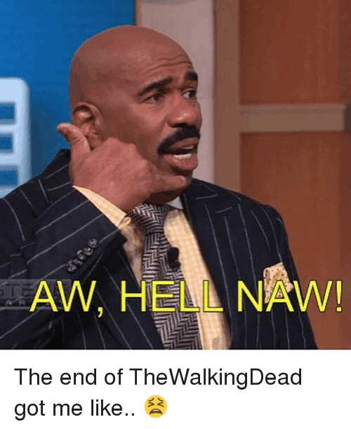 Aw Hell Naw The End Of Thewalkingdead Got Me Like Meme On Meme