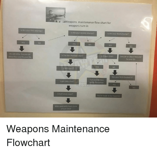 Aweapons Maintenance Flow Chart For Weapons Turn In S Tha Your Finst