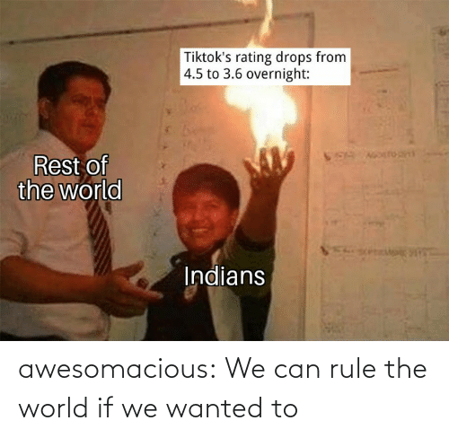 Tumblr, Blog, and World: awesomacious:  We can rule the world if we wanted to