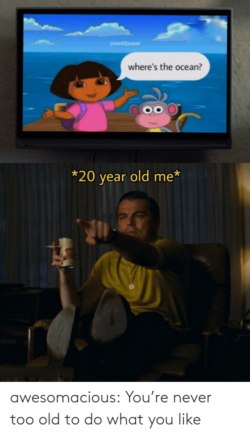 Tumblr, Blog, and Old: awesomacious:  You're never too old to do what you like