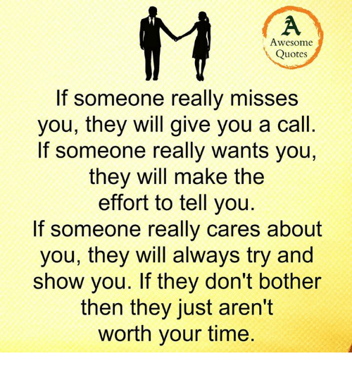 Awesome Quotes If Someone Really Misses You They Will Give You A