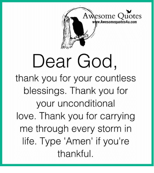 Awesome Quotes Wwwawesomequotes4ucom Dear God Thank You For Your