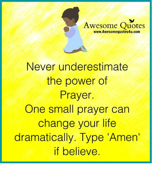 Power Of Prayer Quotes | Awesome Quotes Wwwawesomequotes4ucom Never Underestimate The Power