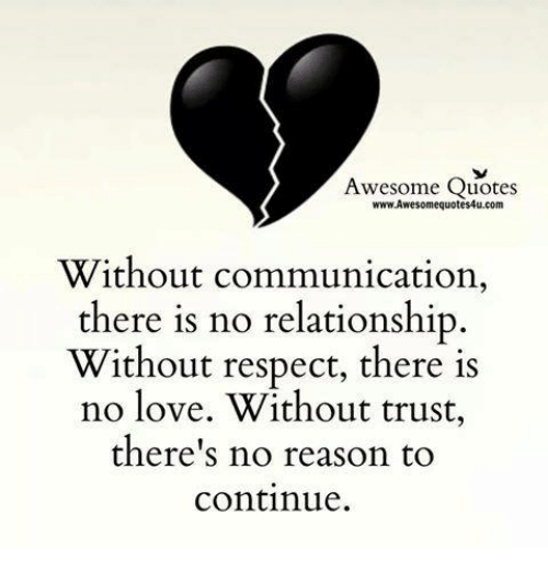 No Love Quotes Inspiration Awesome Quotes WwwAwesomequotes48ucom Without Communication There Is