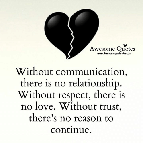 Quotes About Trust And Love In Relationships New Awesome Quotes Wwwawesomequotes4Ucom Without Communication There