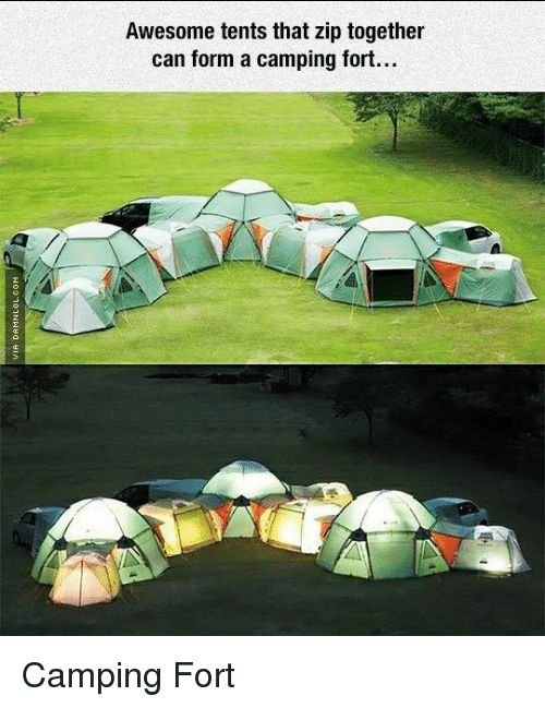 Memes Awesome and ? Awesome tents that zip together can form a c&ing & Awesome Tents That Zip Together Can Form a Camping Fort Camping ...