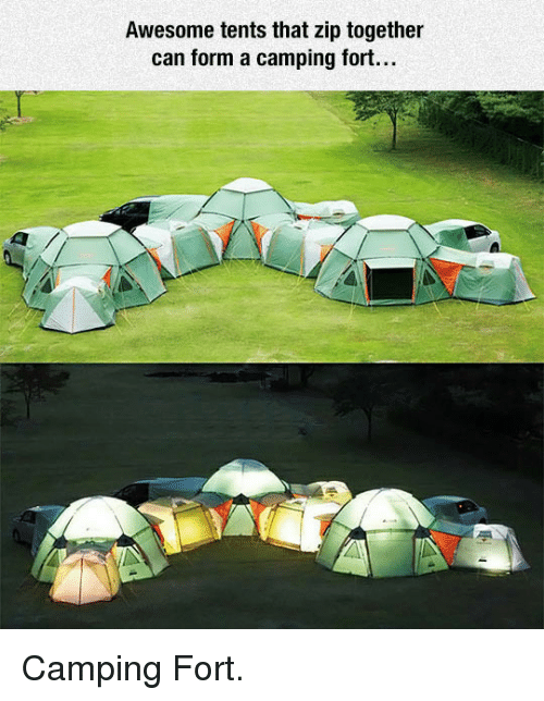Awesome Can and Together Awesome tents that zip together can form a c&ing. C&ing Fort. & Awesome Tents That Zip Together Can Form a Camping Fort u003cpu003eCamping ...