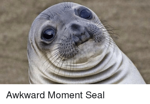 Awkward moment meme seal